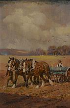 Frederick Hall (1860-1948) - Drilling Corn