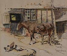 Frederick Hall (1860-1948) - Stable Companions