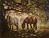 Frederick Hall (1860-1948) - Two Horses in the Shade, Frederick Hall, £2,400