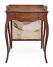 A George III mahogany serpentine ladyÕs