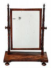 A George IV mahogany dressing table mirror, circa
