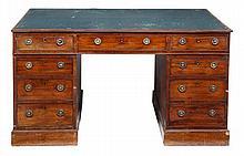 A George IV mahogany partnersÕ pedestal desk,