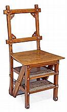 A Gothic metamorphic library chair, circa 1870,