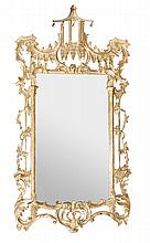A carved giltwood wall mirror, in George III