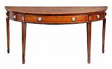 A George III mahogany semi-elliptical serving