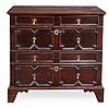 A Charles II oak chest of drawers, circa 1660, the