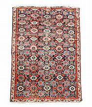 A Mahal rug, the navy field decorated with a