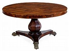 A Victorian rosewood centre table, circa 1880, the