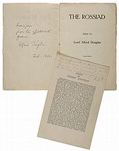 Wildeiana.- Douglas -  The Rossiad, second edition, presentation copy signed by the...