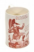 An English creamware transfer-printed Napoleonic