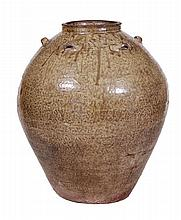 A South-East Asian storage jar of bulbous form