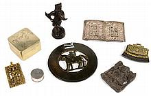 A collection of Oriental items, to include: an