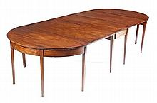 A George III mahogany D-end dining table, circa