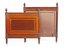 A mahogany single bed, in George III style, 20th