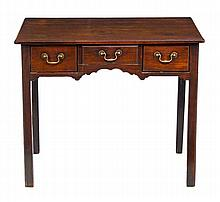 A George II mahogany lowboy, circa 1760, the