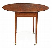A George III mahogany oval Pembroke table, circa