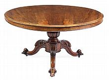 A William IV rosewood circular centre table, circa