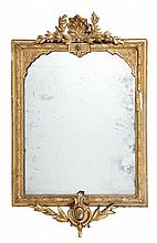 A Victorian giltwood and composition wall mirror,
