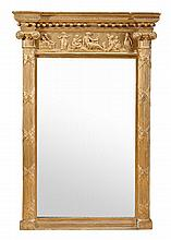 A George IV giltwood pier mirror, circa 1825, with