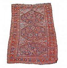 A Quashqai rug, the central field decorated with