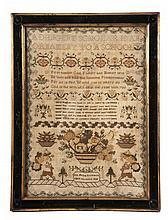 A George IV needlework sampler, by Ann Maria