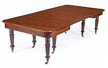 A William IV mahogany extending dining table,