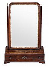 A George II dressing table mirror, circa 1750, the