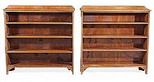 A pair of oak open bookcases, first half 20th