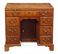A George III mahogany kneehole desk, 18th century,