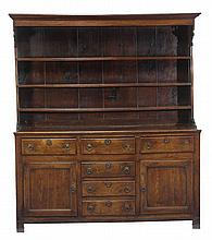 A mid 18th century oak dresser, North Wales, with