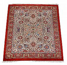 A European carpet, in Mahal style, the ivory field