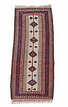 A Shiraz runner, the central lozenge decorated