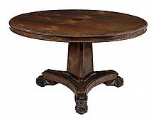 A William IV rosewood tilt top centre table, circa