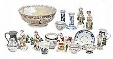 A mixed assortment of ceramics, 18th, 19th and