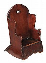 A George III mahogany child's rocking chair, circa