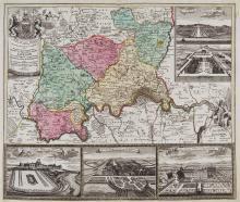 Homann (Johann Baptist) - Accurater Grundriss u. Gegend... London,