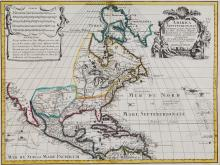 De l'Isle (Guillaume) - America Septentrionalis; America Meridionalis,