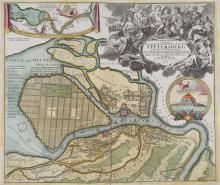 -. Homann (Johann Baptist) - Topographische Vorstellung der Neuen Russischen Haupt-Residenz und See-Stadt St. Petersburg,