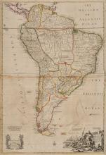 South America.- Senex (John) and John Maxwell. - South America Corrected from the Observations comunicated to the Royal Society's of London & Paris,