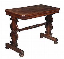 An early Victorian mahogany side table, circa 1840