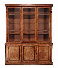 A William IV mahogany library bookcase, circa 1835