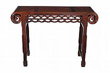 A Chinese hardwood altar table , late 19th/early 20th century