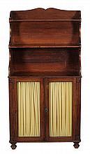 A George IV mahogany bookcase , circa 1825, 160cm high, 83cm wide, 36cm deep