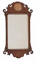 A George III mahogany fretwork mirror, circa 1780, 71cm high, 31cm wide