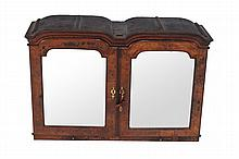 A Queen Anne double dome cabinet , circa 1710, in the manner of John Belchier