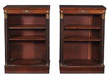 A pair of Regency mahogany bookcases, circa 1820