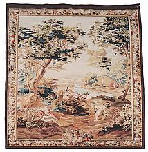 An woven tapestry, in Aubusson style, approximately 214 x 156cm