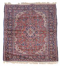 A Kashan rug, approximately 140 x 206cm