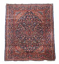 A Kashan rug, approximately 134 x 205cm