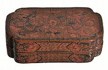 A Chinese polychrome lacquer box, 18th century
